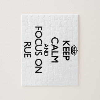 Keep Calm and focus on Rue Jigsaw Puzzle