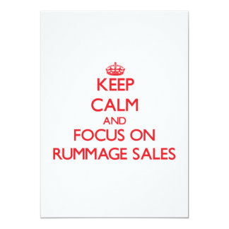 Keep Calm and focus on Rummage Sales 5x7 Paper Invitation Card