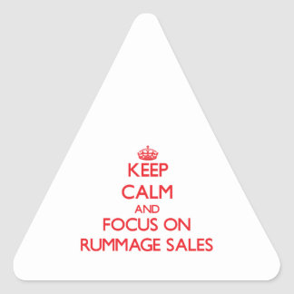 Keep Calm and focus on Rummage Sales Sticker