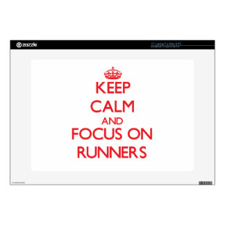 """Keep Calm and focus on Runners Decals For 15"""" Laptops"""
