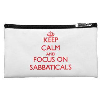 Keep Calm and focus on Sabbaticals Makeup Bag