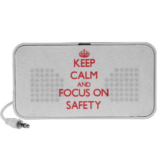 Keep Calm and focus on Safety iPod Speaker