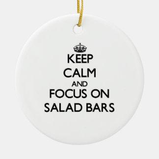 Keep Calm and focus on Salad Bars Ornament