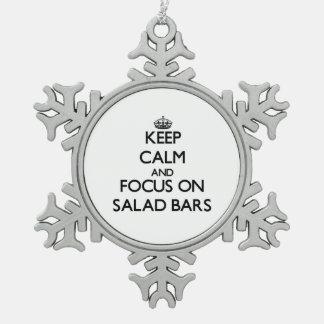 Keep Calm and focus on Salad Bars Ornaments