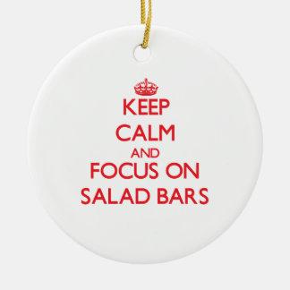 Keep Calm and focus on Salad Bars Christmas Tree Ornament