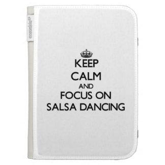 Keep Calm and focus on Salsa Dancing Kindle Keyboard Covers