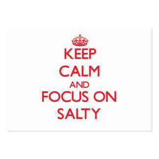 Keep Calm and focus on Salty Business Card