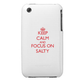 Keep Calm and focus on Salty Case-Mate iPhone 3 Cases