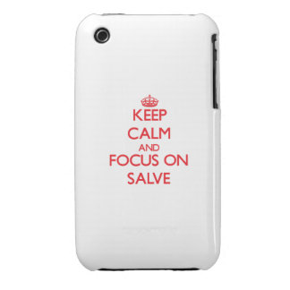 Keep Calm and focus on Salve iPhone 3 Case-Mate Cases