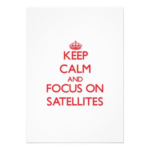 Keep Calm and focus on Satellites Custom Invitations