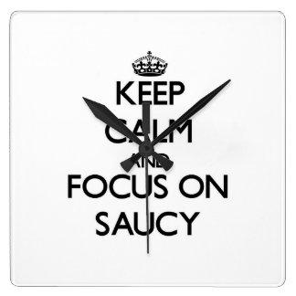 Keep Calm and focus on Saucy Wall Clocks