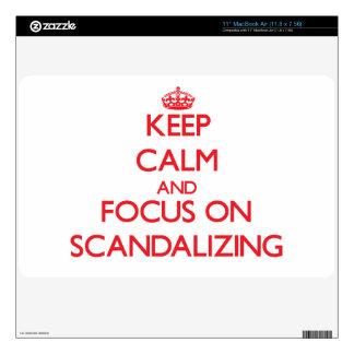"Keep Calm and focus on Scandalizing 11"" MacBook Air Skin"