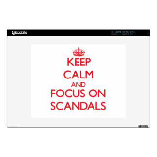 """Keep Calm and focus on Scandals Skin For 12"""" Laptop"""
