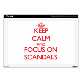 Keep Calm and focus on Scandals Decal For Laptop
