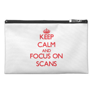Keep Calm and focus on Scans Travel Accessories Bags