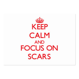 Keep Calm and focus on Scars Large Business Cards (Pack Of 100)