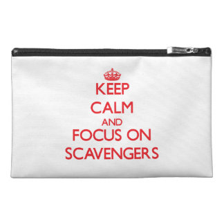 Keep Calm and focus on Scavengers Travel Accessory Bags