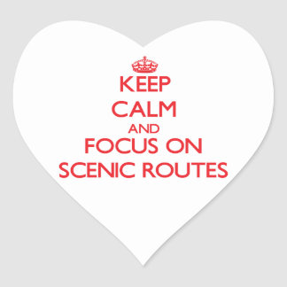 Keep Calm and focus on Scenic Routes Stickers