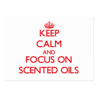 Keep Calm and focus on Scented Oils Business Card Template