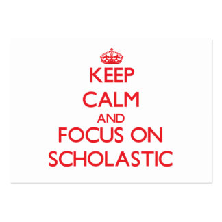 Keep Calm and focus on Scholastic Business Card Template