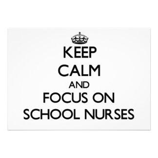 Keep Calm and focus on School Nurses Card