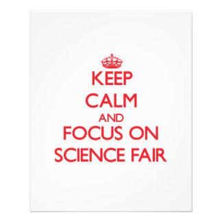Keep Calm and focus on Science Fair Flyer