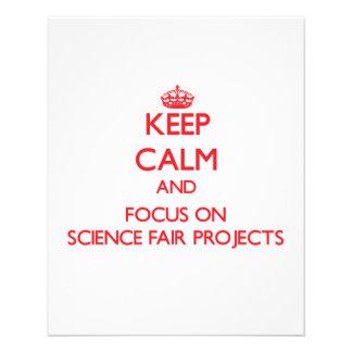 Keep Calm and focus on Science Fair Projects Custom Flyer