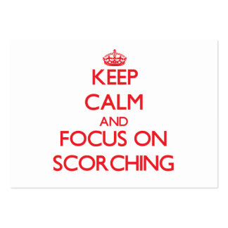 Keep Calm and focus on Scorching Large Business Cards (Pack Of 100)