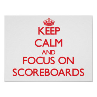 Keep Calm and focus on Scoreboards Poster