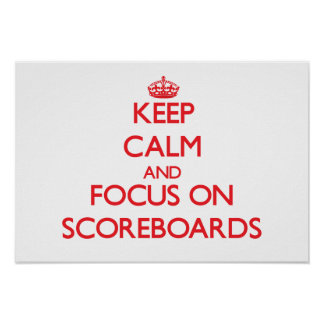 Keep Calm and focus on Scoreboards Posters
