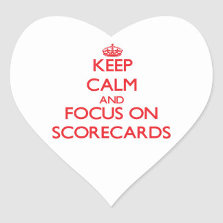 Keep Calm and focus on Scorecards Stickers