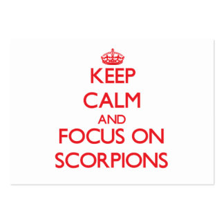 Keep Calm and focus on Scorpions Business Card Templates