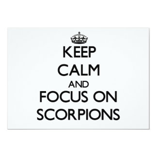 Keep calm and focus on Scorpions Card