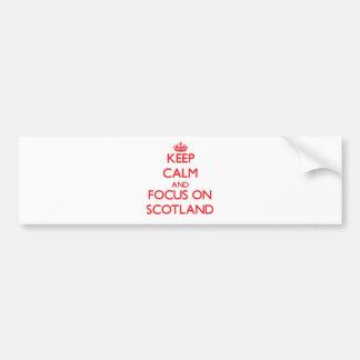 Keep Calm and focus on Scotland Bumper Sticker