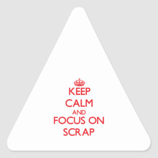 Keep Calm and focus on Scrap Triangle Sticker