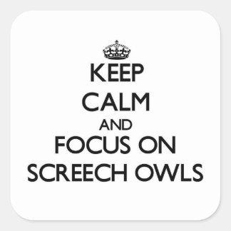 Keep calm and focus on Screech Owls Sticker