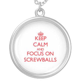 Keep Calm and focus on Screwballs Pendants