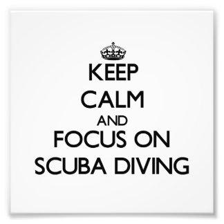 Keep Calm and focus on Scuba Diving Photo Print