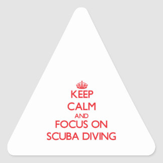 Keep Calm and focus on Scuba Diving Sticker