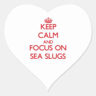 Keep calm and focus on Sea Slugs Stickers