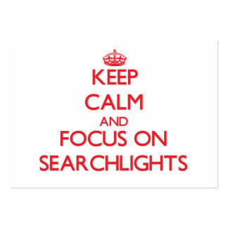 Keep Calm and focus on Searchlights Business Card Template