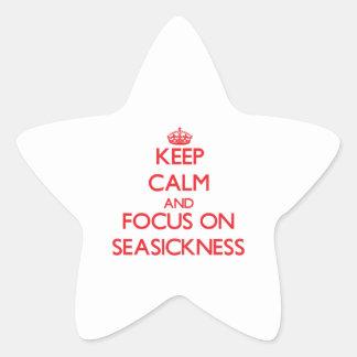 Keep Calm and focus on Seasickness Star Sticker