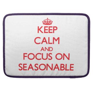 Keep Calm and focus on Seasonable Sleeves For MacBook Pro