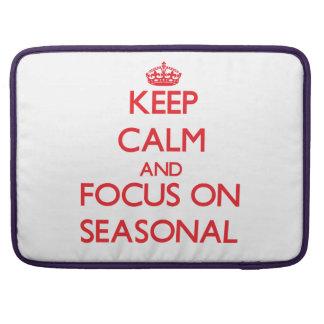 Keep Calm and focus on Seasonal Sleeves For MacBook Pro