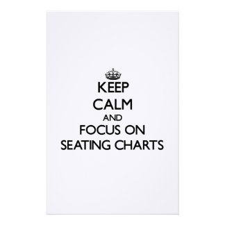 Keep Calm and focus on Seating Charts Personalized Stationery