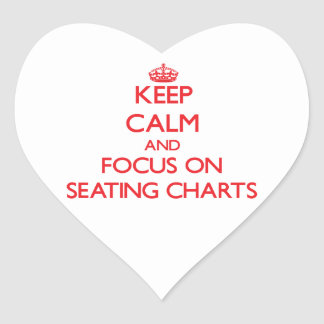 Keep Calm and focus on Seating Charts Sticker