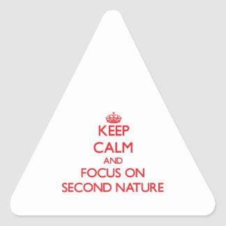 Keep Calm and focus on Second Nature Triangle Sticker