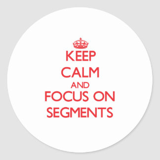 Keep Calm and focus on Segments Round Stickers
