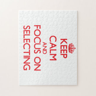 Keep Calm and focus on Selecting Puzzle