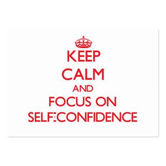 Keep Calm and focus on Self-Confidence Business Card Templates